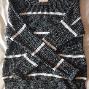 Hollister striped grey sweater!